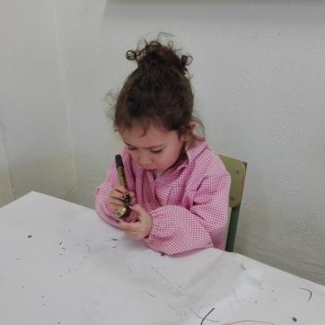 pintando una castaña